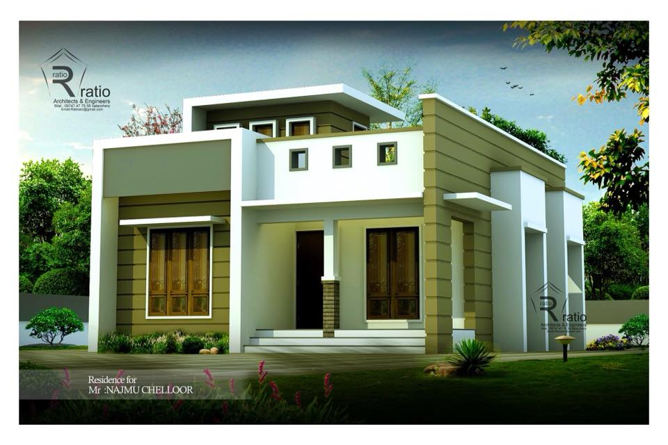 770 Square Feet 2 Bedroom Single Floor Low Budget Beautiful Home Design