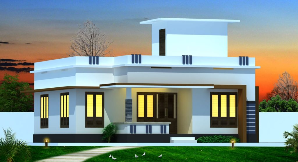 918 Sq Ft Beautiful Low Budget Home Design: 830 Square Feet 2 Bedroom Low Budget Modern Beautiful Home