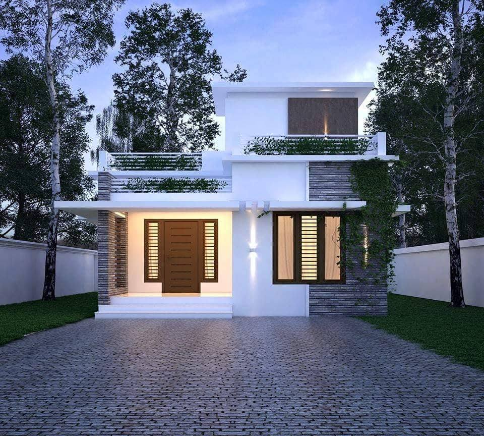 852 Square Feet 2 Bedroom Simple and Beautiful Budget Home Design