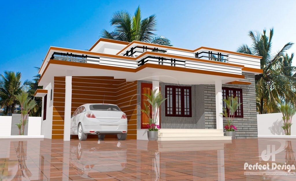 893 Square Feet 2 Bedroom Contemporary Modern Home Design and Plan