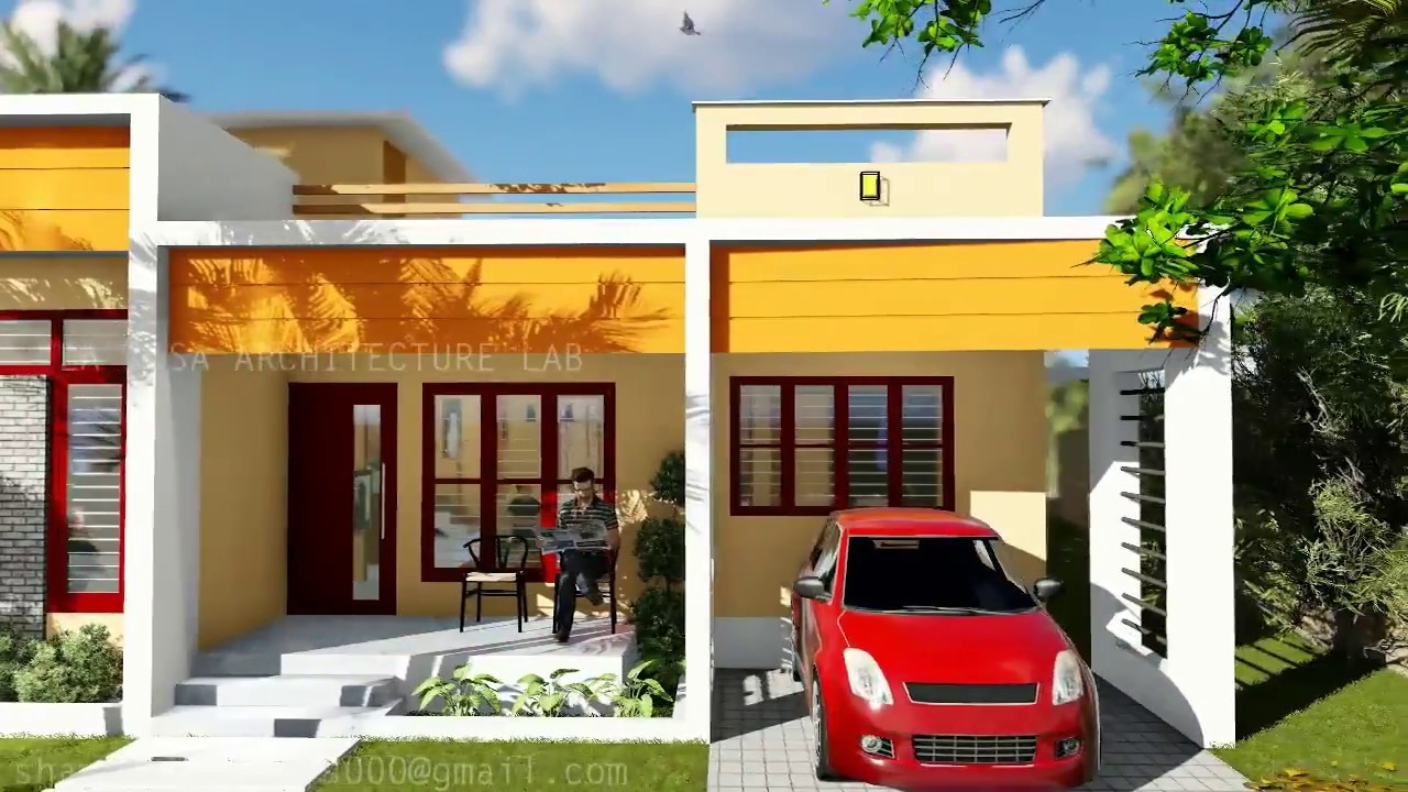 1200 Square Feet 3 Bedroom Low Budget Contemporary Style House Design