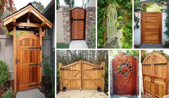 Latest Modern Wooden Gate Design Ideas