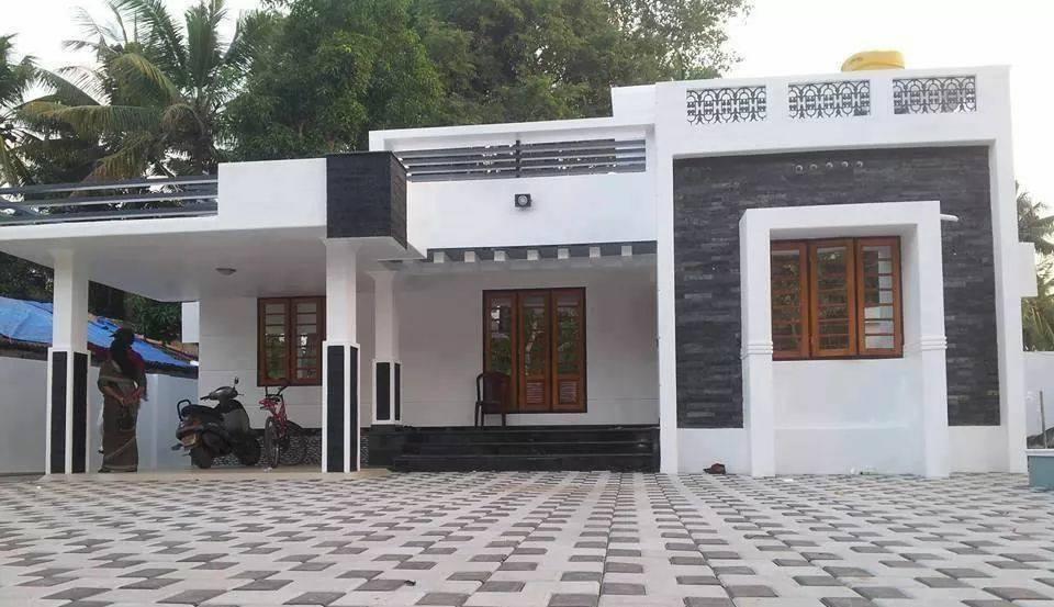 1286 Square Feet 3 Bedroom Single Floor Modern Home Design and Plan