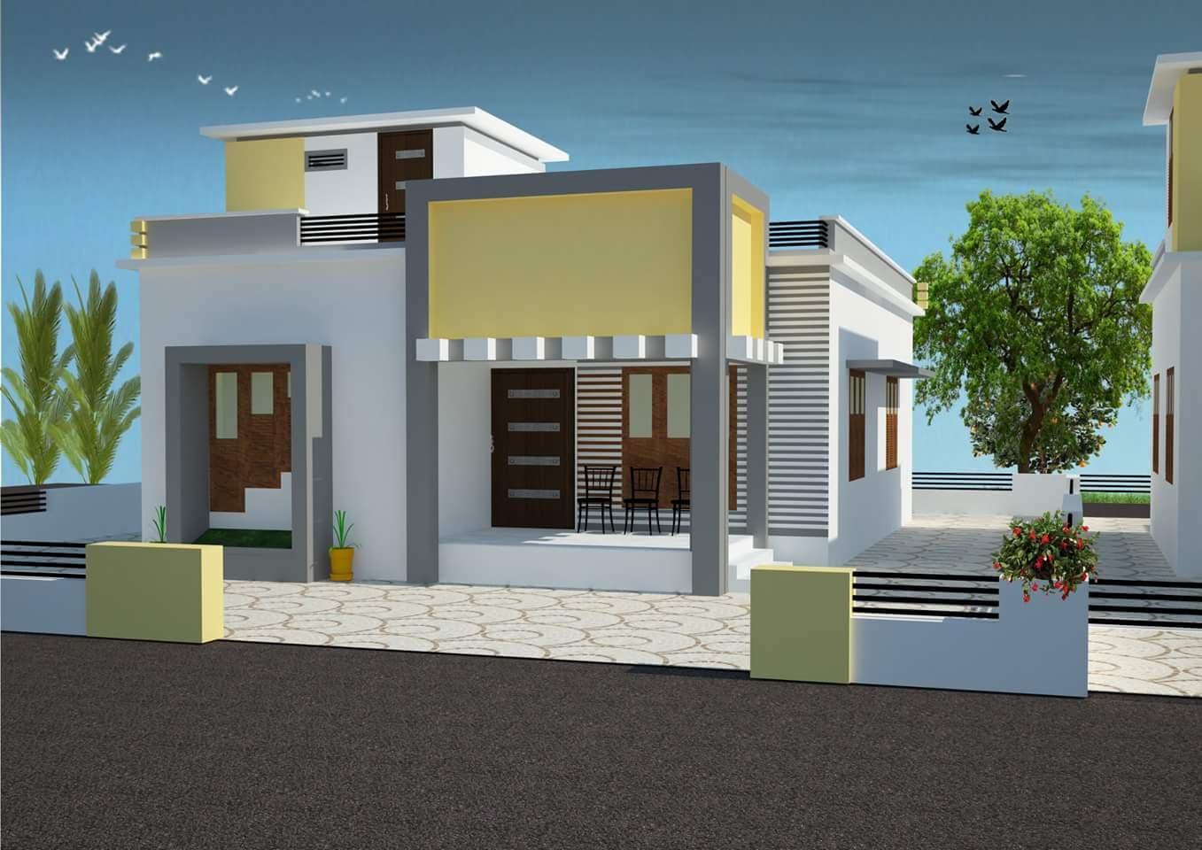Photo of 800 Square Feet 2 Bedroom Low Budget Single Floor Beautiful Home Design