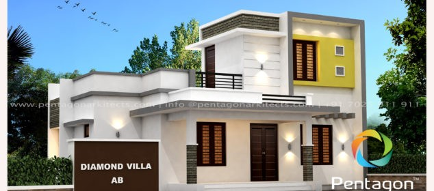 985 Square Feet 3 Bedroom Modern Contemporary Low Budget Home Design and Plan