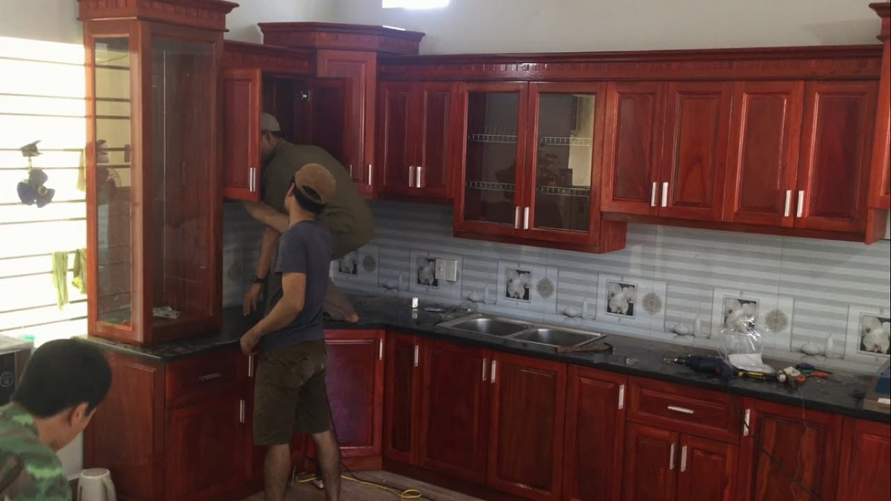 How To Installation Full Kitchen Cabinets Wall Mounted ...