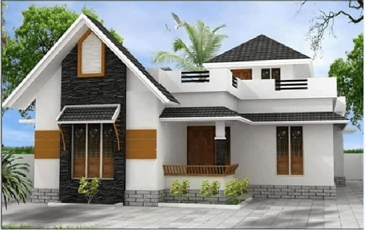 1082 Square Feet 2 Bedroom Single Floor Modern Home Design and Plan