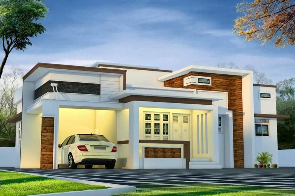 1160 Square Feet 3 Bedroom Contemporary Modern Single Floor Home Design And  Plan