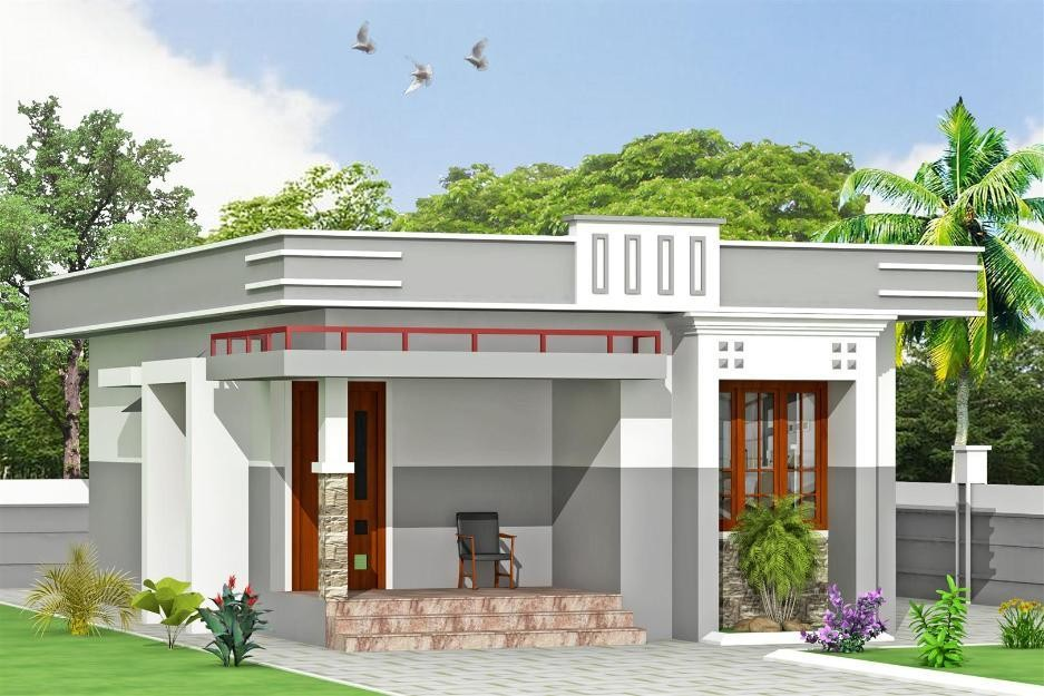 800 Square Feet 2 Bedroom Modern Low Budget House Design with Plan 2 - View Small House Low Budget Modern 3 Bedroom House Design Pics