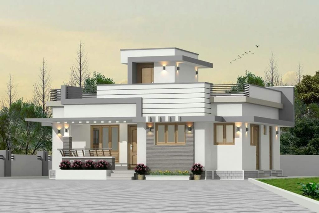 850 Square Feet 3 Bedroom Low Budget Double Floor Modern Home Design