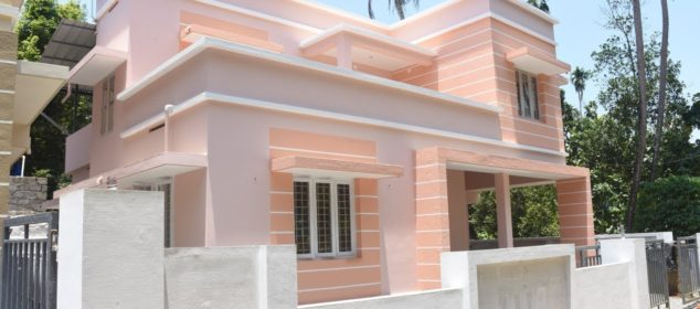 Contemporary house for sale in Ernakulam, near Angamaly | 1450 sq ft in 5 cents plot