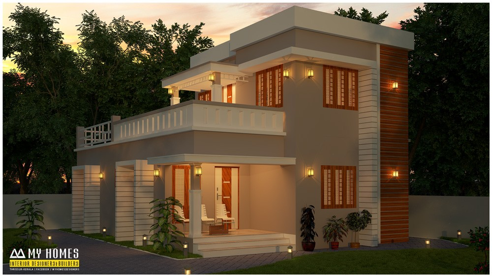 1400 Square Feet 3 Bedroom Low Budget Kerala Style ...