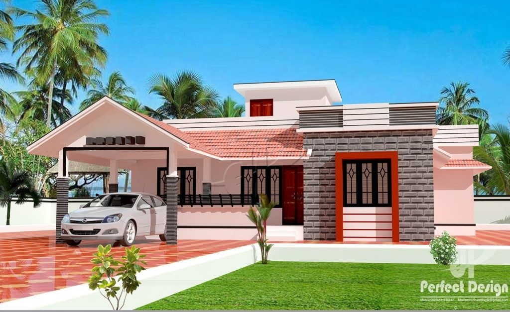 1151 Square Feet 3 Bedroom Single Floor Modern Home Design and Plan