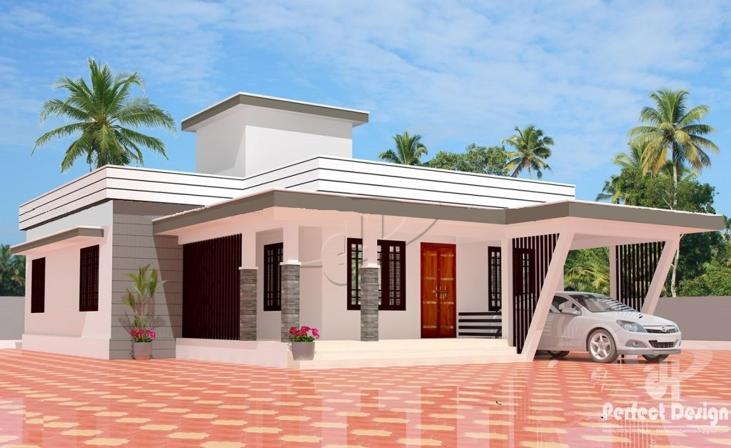 1162 Square Feet 3 Bedroom Single Floor Modern Contemporary Style Home Design and Plan