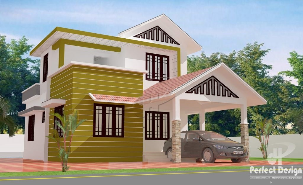 1216 Square Feet 3 Bedroom Double Floor Modern Home Design and Plan
