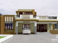 1292 Square Feet 3 Bedroom Single Floor Modern Home Design and Plan