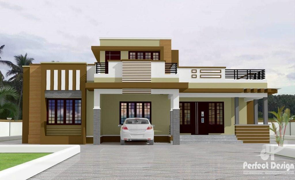 1292 Square Feet 3 Bedroom Single Floor Modern Home Design and Plan