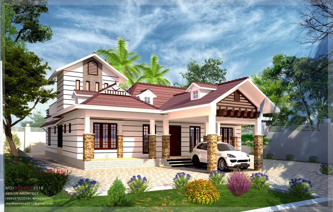 2135 Square Feet 4 Bedroom Modern Double Floor Home Design And