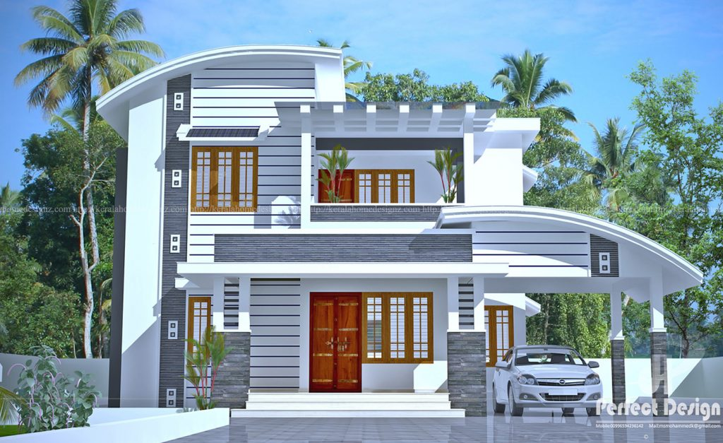 2140 Square Feet 4 Bedroom Double Floor Modern Beautiful Home Design with Plan