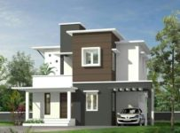 1450 Square Feet 3 Bedroom Contemporary Style Double Floor Modern Home Design