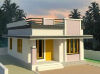 579 Square Feet 2 Bedroom Low Budget Single Floor Modern Home Design and Plan