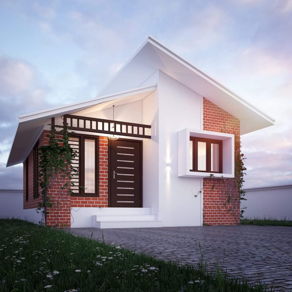 600 Square Feet 2 Bedroom Low Budget Single Floor Modern Home Design