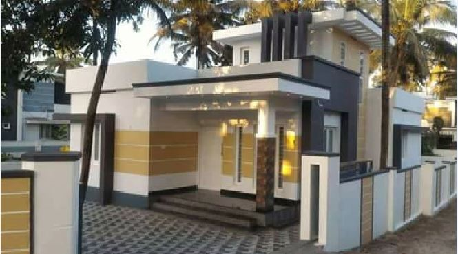 700 Square Feet 2 Bedroom Beautiful Single Floor Modern House with Plan