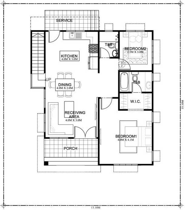 780 Square Feet 2 Bedroom Single Floor Beautiful Home Design and Plan
