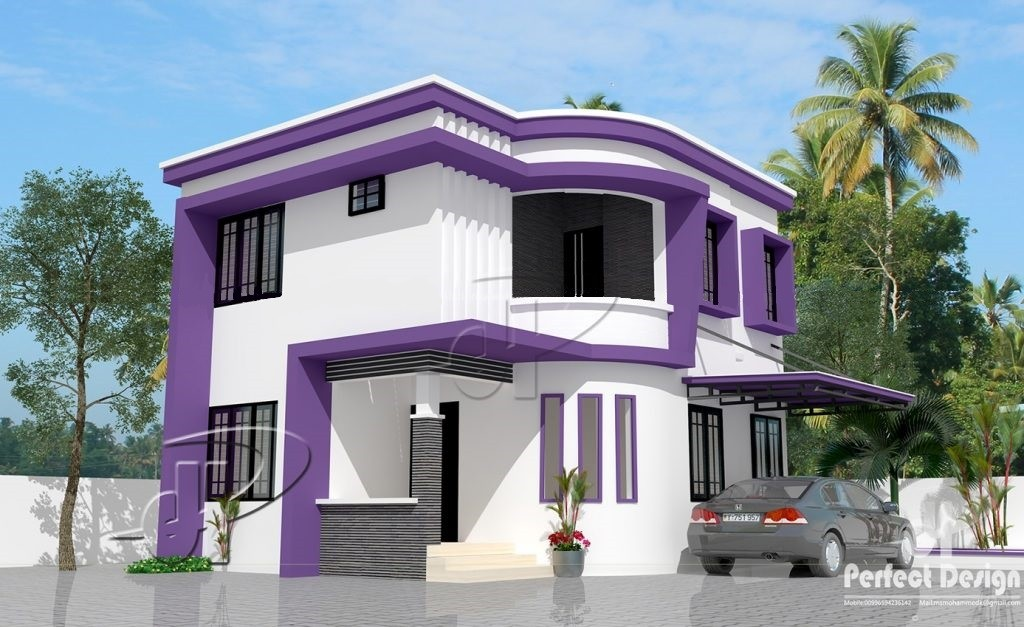 968 Square Feet 3 Bedroom Double Floor Modern Home Elevation with Plan