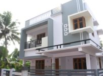 4.5 Cent and 1650 Square Feet 3 Bedroom Double Floor Modern Home For Sale