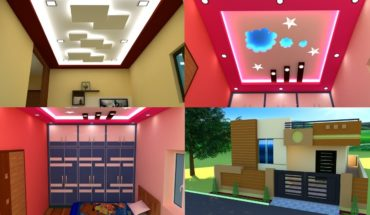 2 BHK House Ceiling Cupboards cabinet Designs