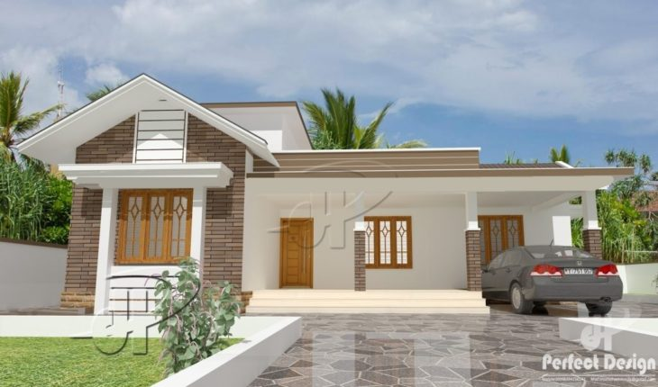1131 Square Feet 2 Bedroom Mixed Roof Modern Single Floor