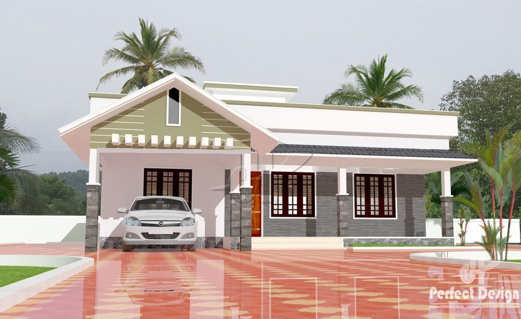 1259 Square Feet 3 Bedroom Single Floor Modern Beautiful Home Design and Plan
