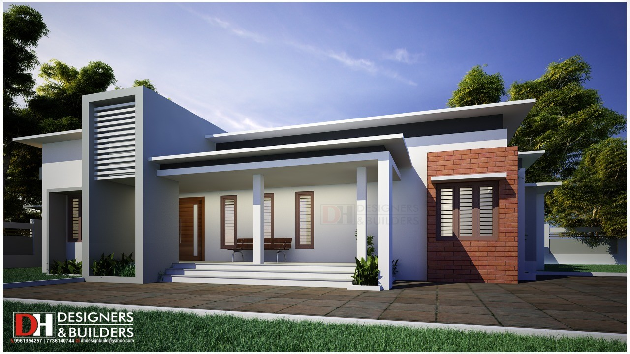 Low Cost Contemporary Style 3 Bedroom Single Floor Modern