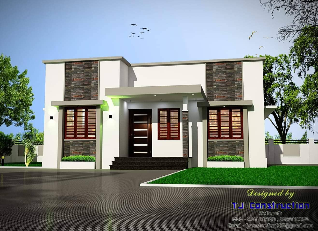 Photo of 640 Square Feet 2 Bedroom Contemporary Style Single Floor Modern Budget Home Design