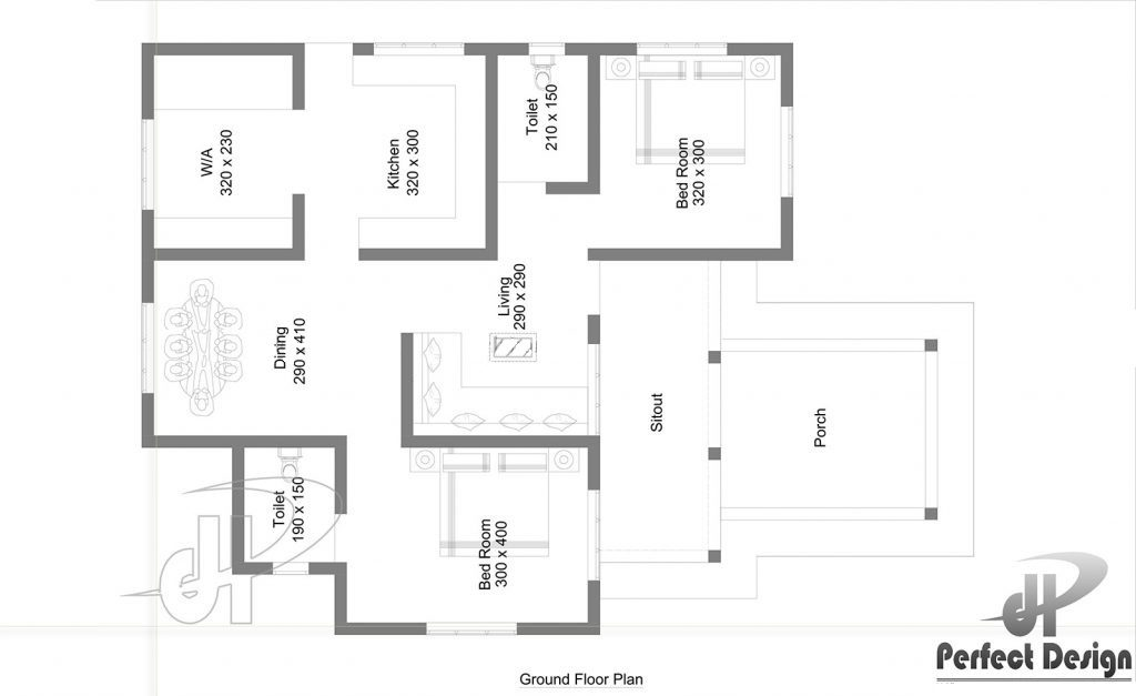 963 Square Feet 2 Bedroom Sloped And Flat Roof Single
