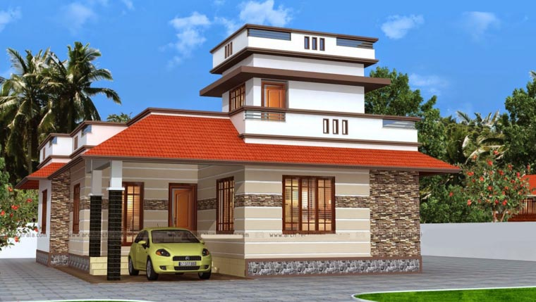 1090 Sq Ft 2 Bedroom Simple Traditional Style Single Floor Home