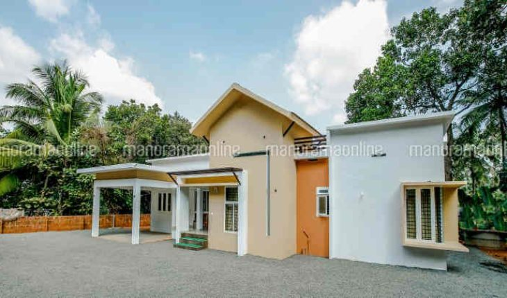 1350 Square Feet 3 Bedroom Mix Roof Modern Single Floor Home And