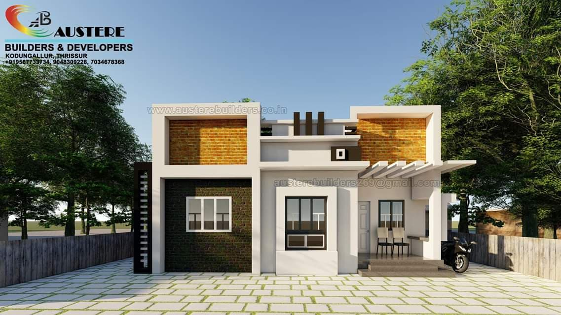 Photo of 700 Square Feet 2 Bedroom Single Floor Contemporary Modern Style Low Cost Home Design