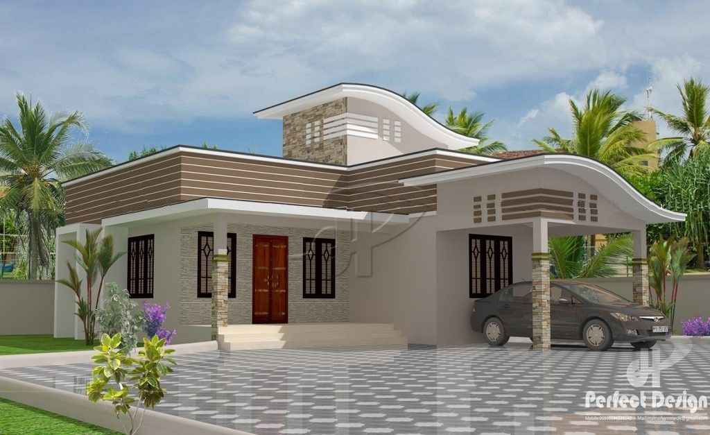 Photo of 950 Square Feet 2 Bedroom Contemporary Style Single Floor Modern Low Budget Home Design and Plan