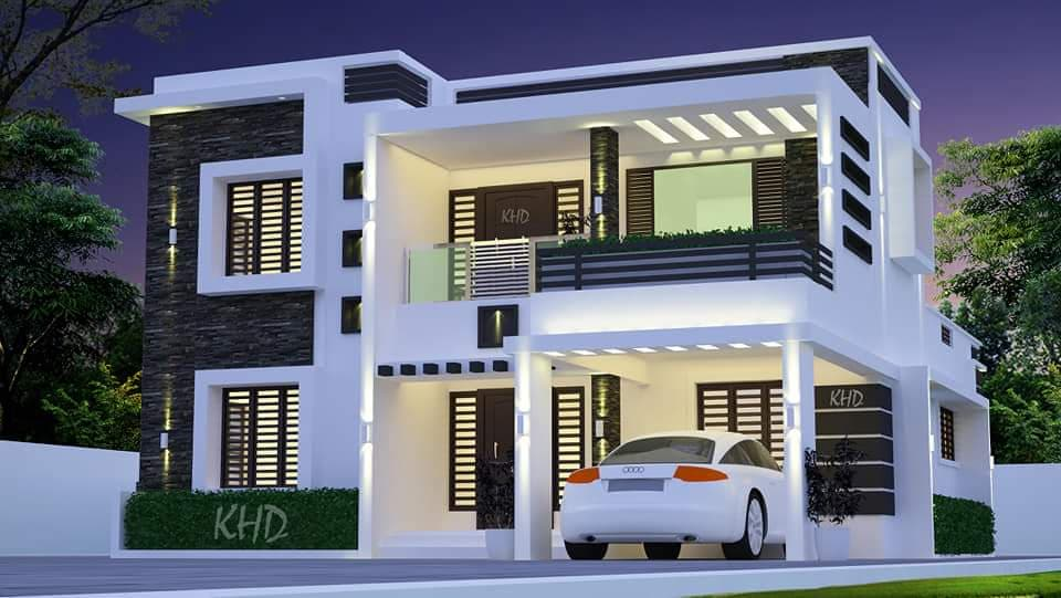 2474 Square Feet 4 Bedroom Contemporary Style Modern