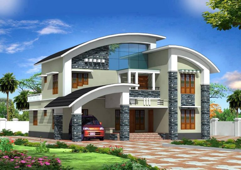 2020 sq ft 5 bedroom modern contemporary curve style design home and plan 2 - 44+ Small House Simple Modern House Design 2020 Gif