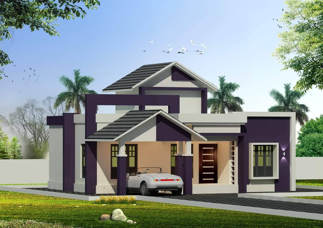 Photo of 1150 Square Feet 2 Bedroom Single Floor Modern Home Design