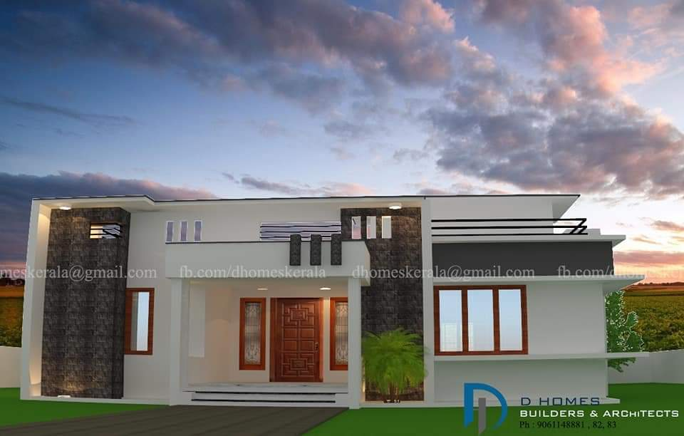 Photo of 1120 Square Feet 2 Bedroom Low Budget Flat Roof Modern Home and Plan