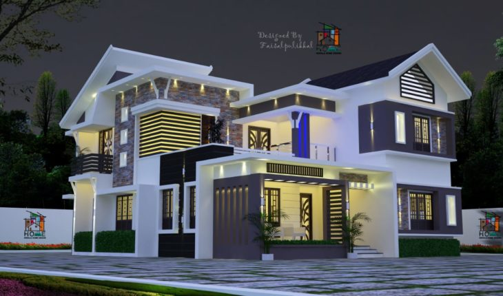 2417 Square Feet 4 Bedroom Modern Awesome Kerala Home Design