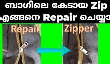 How to Repair Broken zip