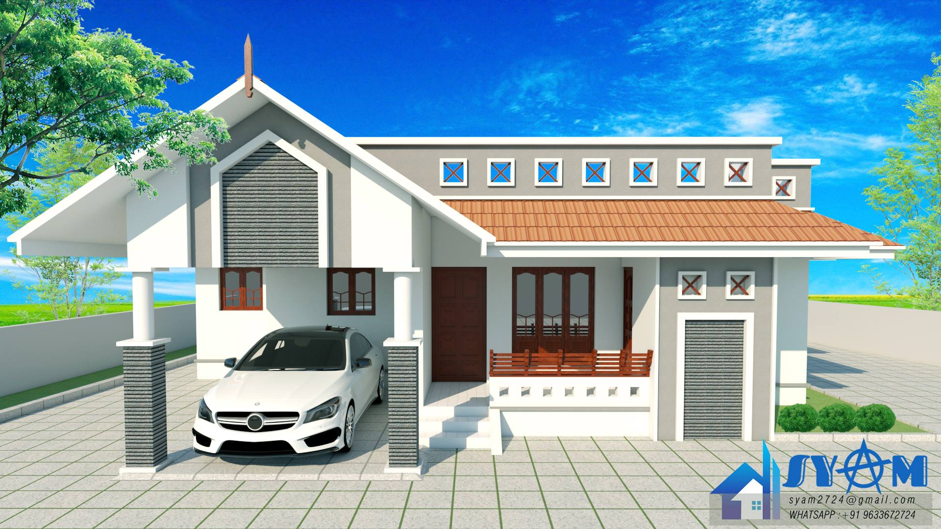 Photo of 1200 Square Feet 3 Bedroom Single Floor Low Budget House at Kollam