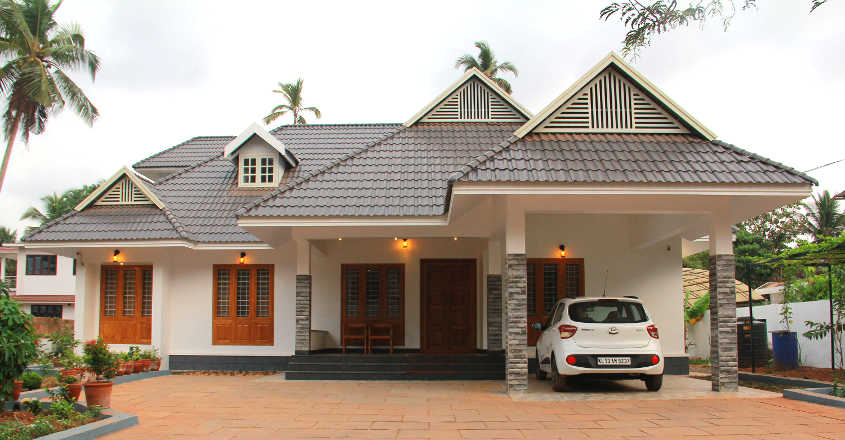 2000 Square Feet 3 Bedroom Modern Slope Roof Style Single