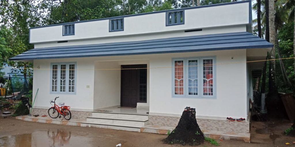 1000 sq ft 3 bedroom single floor low budget simple style house and plan