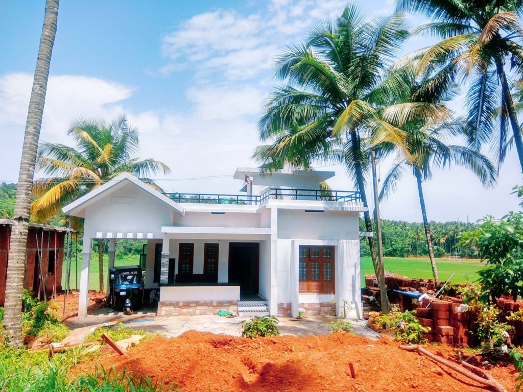 1080 sq ft 2 bedroom single floor low budget simple style house and plan